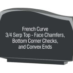 French curve corner checks chamfers convex ends