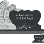 Double Heart with Sculpted Angel