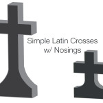 Simple Latin Crosses With Nosings