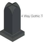 Four way gothic top