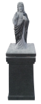 Sacred Heart lid on square pedestal